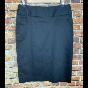Rafaella Classic Black Pencil Skirt Size 6